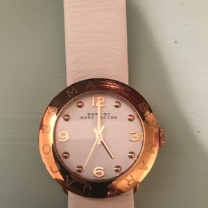 Marc Jacobs white watch. WORN ONCE!!